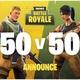Fortnite's 50 vs 50-modus keert terug